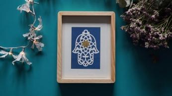 Mano Fatima Azul